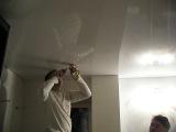 EXTRA Ремонт квартир в Краснодаре. Начало слива воды с натяжного потолка